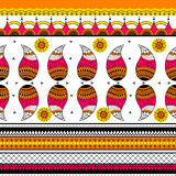 Colorful Indian tribal seamless pattern. In vector Royalty Free Stock Images