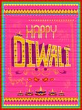 Colorful Indian truck painting on Happy Diwali card for festival of light of India. Vector illustration of colorful Indian truck painting on Happy Diwali card vector illustration
