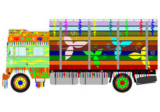 Colorful indian truck Royalty Free Stock Photos