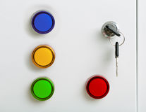 Electrical colorful indicators Royalty Free Stock Photography