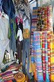 Colorful indigenous market of Otavalo Stock Image