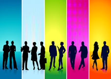 Colorful individuals Stock Photo