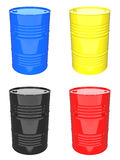 Colorful Industrial Barrel - Set of 3D Royalty Free Stock Images