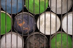 Colorful Industrial Drums Stock Photos