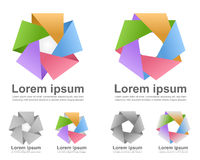Colorful infinite loop icons royalty free illustration