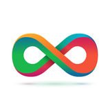 Colorful infinity symbol Stock Image