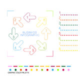 Colorful info graphic template with color palette Royalty Free Stock Photo