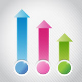 Colorful info graphics business graph illustration Royalty Free Stock Images