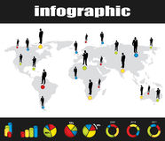 Colorful infographic Stock Photo
