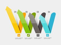 Colorful infographic arrows for Business. Creative colorful infographic arrows for your Business reports and presentation Stock Photography