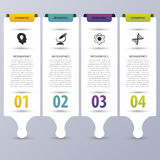 Colorful infographic banners. Modern design template. Vector illustration Royalty Free Stock Photos