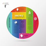 Colorful infographic concept in circle. Business template. Colorful infographic concept in circle. Business template Stock Photos