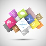 Colorful Infographic Cubes Stock Photo