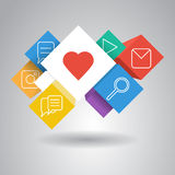 Colorful infographic cubes vector art. The elements for web design Royalty Free Stock Photo