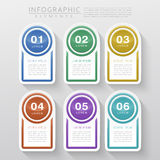 Colorful infographic design Royalty Free Stock Photos