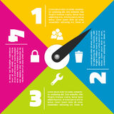 Colorful infographic design Stock Photo
