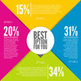 Colorful infographic design Stock Images