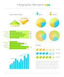 Colorful infographic elements Stock Photos