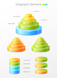 Colorful infographic elements Stock Photography