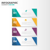 Colorful Infographic elements presentation templates flat design set for brochure flyer leaflet marketing Stock Photo