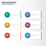 Colorful Infographic elements presentation templates flat design set for brochure flyer leaflet marketing Royalty Free Stock Image