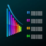 Colorful infographic Royalty Free Stock Image