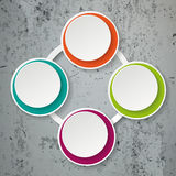 Colorful Infographic Paper Lifecycle Concrete Stock Image