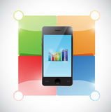 Colorful infographic phone illustration design Royalty Free Stock Photo