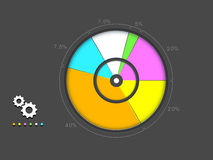 Colorful infographic pie chart concept. Stock Image