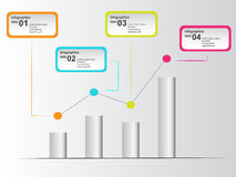 Colorful infographic with points in graph Stock Image