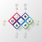 Colorful infographic with square structure. Vector Stock Image