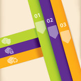 Colorful infographic template design Royalty Free Stock Photography