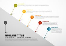 Colorful Infographic timeline report template with bubbles stock illustration