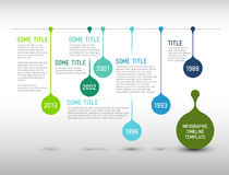 Colorful Infographic timeline report template with drops Stock Photography