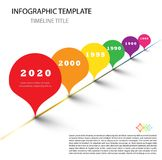Colorful Infographic modern timeline report template with drops royalty free illustration