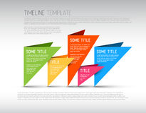 Colorful Infographic timeline report template Stock Image