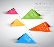 Colorful Infographic timeline report template Royalty Free Stock Images