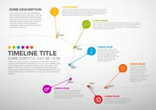 Free Colorful Infographic Timeline Report Template With Bubbles Stock Photo - 123816480