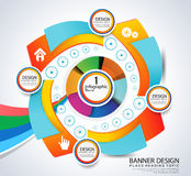 Colorful infographic vector background Royalty Free Stock Photography