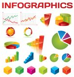 Colorful infographic vector collection. For your artwork Stock Image