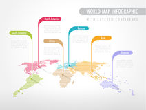 Colorful Infographic World Map Stock Images