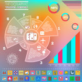 Colorful Infographics Diagram Summer Design. Royalty Free Stock Photo