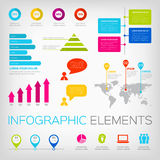 Colorful infographics elements Royalty Free Stock Photos
