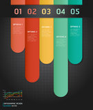 Colorful Infographics Number Options. Stock Photos