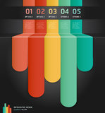 Colorful Infographics Number Options. Royalty Free Stock Images