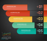 Colorful Infographics Number Options. Royalty Free Stock Photo