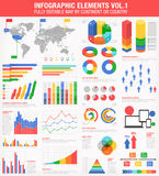 Colorful Infographics Set 1 Royalty Free Stock Photo