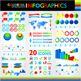 Colorful infographics set Royalty Free Stock Photography