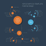 Colorful infographics template with circles Stock Photos