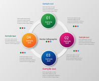 Colorful infographics template with steps, options. For infographic, banner, web design,presentation. Vector illustration Royalty Free Stock Photography